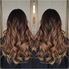 Chocolate caramel hair color colour melt dark chocolate to caramel hair beauty Ombre Hair Color, Brown Hair Colors, Colour Melt Hair, Caramel Hair Dye, Pelo Cafe, Hair Melt, Natural Waves Hair, Fusion Hair, Ombré Hair