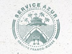 Service Azur, Groupe Franco-Russe logo made by some guy on pinterest
