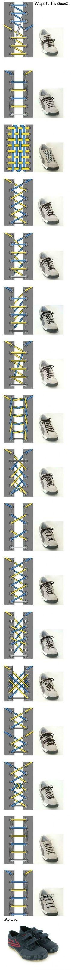 Способы шнуркования