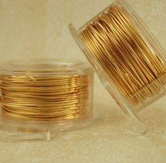22 gauge gold colored wire