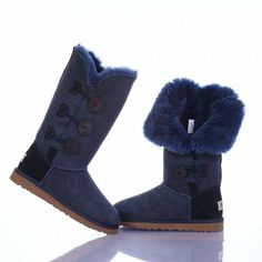 Boots Bailey Button Triplet Ugg Navy Blue 1873 Model: Ugg Boots 021 Save: off Ugg Snow Boots, Kids Ugg Boots, Ugg Boots Sale, Ugg Boots Cheap, Winter Boots, Early Fall Outfits, Ugg Bailey Button, Ugg Slippers, Ugg Classic