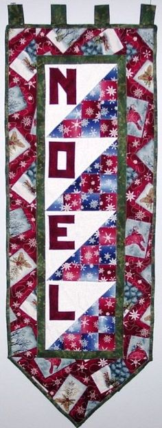 Noel Christmas Wall Banner Quilt