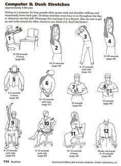 click to download a printable pdf  desk workout workout