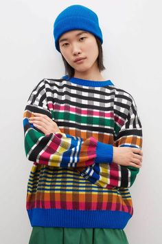 Kowtow Jumper - Check Honeycomb Stitch, Jumper, Men Sweater, Seed Stitch, Fashion Line, Women's Fashion, Tank Top Shirt, Knitwear, Organic Cotton