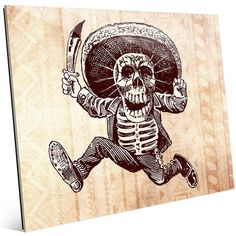 "Click Wall Art 'Running Death' Graphic Art on Plaque Size: 20"" H x 24"" W x 1"" D"