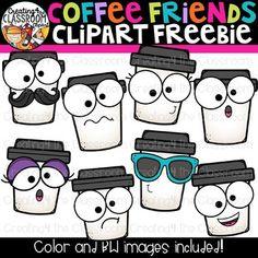 Coffee Friends Clipart Freebie {Coffee Clipart} by the Classroom Free Clipart For Teachers, Emoji Clipart, Coffee Clipart, Friends Clipart, School Forms, Trans Art, Employee Appreciation Gifts, Teacher Discounts, School Clipart