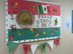 Cinco de mayo bulletin board by tammy erwin Spanish Classroom Decor, Classroom Crafts, Classroom Door, Spanish Bulletin Boards, Teacher Bulletin Boards, Back To School Displays, Class Displays, Spanish Activities, Teaching Spanish