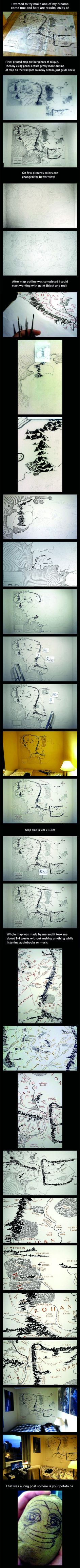 Middle-Earth Map on the wall (DIY edition)