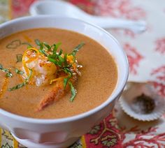 Pumpkin and Shrimp Bisque