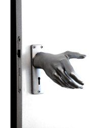 The hand(le) doorknob