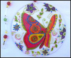Mandala Borboleta 15cm