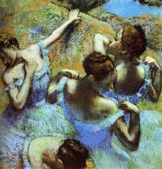 Edgar Degas - Blue Dancers 1889 For Degas Art appraisal and Degas authentication visit degasexperts.com