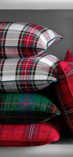 Classic Red Tartan Pillows                                                                                                                                                                                 Plus