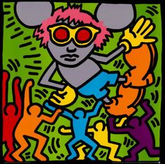 Keith Haring - Artist 20th century - Bad Painting - Underground Style - Andy Mouse