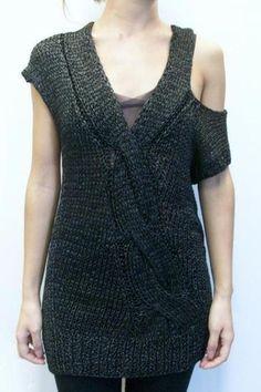 VPL Space slip twist knit sweater