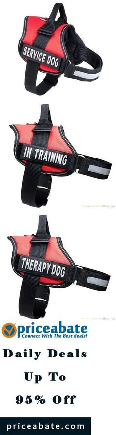 #priceabatedeals THERAPY DOG Vest Harness w/ Reflective Velcro Patches IN TRAINING SERVICE DOG - Buy This Item Now For Only: $28.95