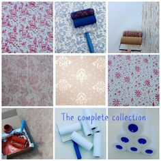 The NotWallpaper Patterend Paint Roller complete by NotWallpaper
