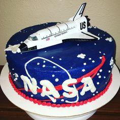 NASA space shuttle birthday cake