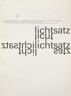 Typographische Monatsblätter (TM) focussing on the issues from 1960 till 1990. Cover from 1966 issue 11