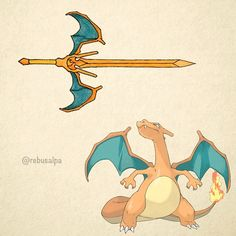 No. 006 - Charizard. #pokemon #charizard #greatsword #pokeapon