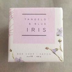 Tangelo&blue Iris Sprinkle Bloom Anthropologie Bar Soap Savon Moisturizing Nib