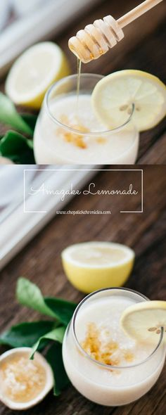 Amazake Lemonade is a delicious and healthy Japanese fermented beauty drink made from rice and rice mold! It's a great refreshing snack!