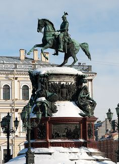 Monument to Nicholas I, St. Petersburg, Russia
