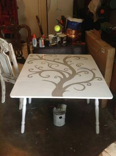 Drop leaf table. I am almost done with this one! Just need to distress, glaze and poly coat :)