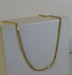 Ladies 14K Yellow Gold Square Foxtail Link Chain Necklace #Chain