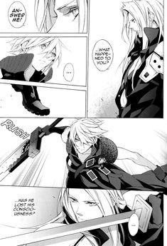 Read Final Fantasy VII - Chronos (Doujinshi) Page 20 - Mangago Final Fantasy Funny, Final Fantasy Cloud, Final Fantasy Artwork, Fantasy Male, Final Fantasy Xiv, Fantasy Series, Foo Fighters Poster, Cool Anime Guys, Short Comics