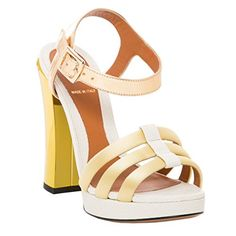 Fendi Womens Chameleon Platform Sandal Leather White Gold 40 M EU -- More  info could be found at the image url. (This is an affiliate link) cfb0c61bcfc