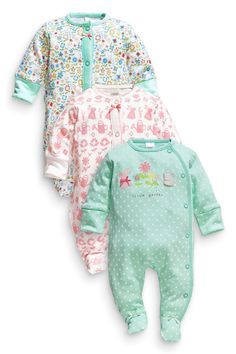 Buy Three Pack Gardening Sleepsuits (0mths-2yrs) from the Next UK online shop