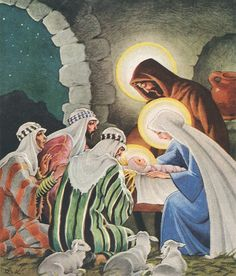 Rudolf Koivu Christian Images, Happy Birthday Jesus, Christmas Nativity, Christmas Eve, O Holy Night, Papa Francisco, Vintage Christmas Cards, Native Art, Elsa Beskow