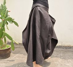 Steps to happiness/womens clothing/plus size/petite/linen skirt/ankle skirt/4 colors/custom made--Reserved list for dear Artsc1