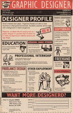 retro style infographic resume