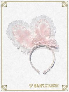 Baby, the Stars Shine Bright: Easter Bunny head bow in pink and white