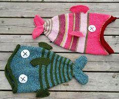 Fish Hat - free knitting pattern and more fun hat knitting patterns