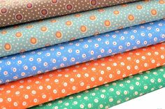 Pattern/Style Flower Circle Dots. Length/Amount Fat Quarter. Type Fabric. Color Multi-Color. Material 100% Cotton. Notion Potion. Brand Notions Potions. Conditon New.