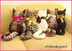 El Taller de Jazmín: Almohadones gatitos