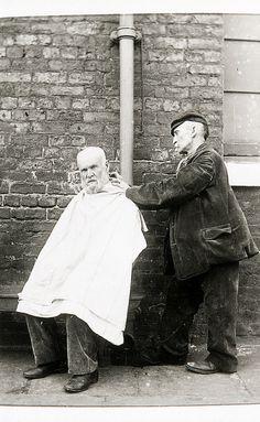 Barber, Crumpsall Workhouse, c.1897