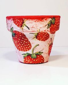 Check out this item in my Etsy shop https://www.etsy.com/listing/596969932/flower-pots-strawberry-garden-decor-home