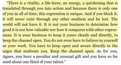 Martha Graham to Agnes de Mille