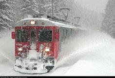 Rhätische Bahn, Berninapass, Switzerland