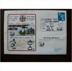 1976 Hereford United v Hull City 6th Official Dawn Football Cover 1 McNeil sport