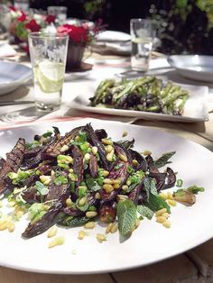 Marinated, Roasted Aubergines With Mint And Pine Nuts