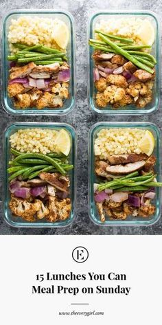 15 Lunches You Can Meal Prep on Sunday   The Everygirl