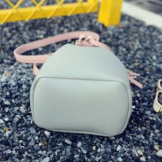 gray Tassel Bucket Bag Leather Handbag Brand Messenger Bag Female - Tomtop.com