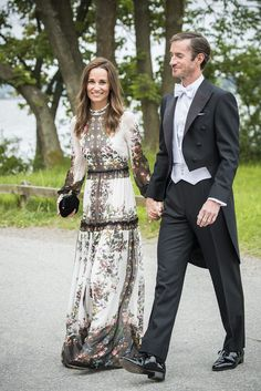 Pippa Middleton Wore The Perfect Erdem Dress to a Friend's Wedding