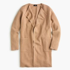 Shop the Juliette collarless sweater-blazer at J.Crew and see the entire selection of Women's Sweaters. Find Women's clothing & accessories at J. Sweater Coats, Sweater Jacket, Cashmere Sweaters, Women's Sweaters, Cardigans, Blazers For Women, Coats For Women, Sweaters For Women, Capsule Wardrobe Work
