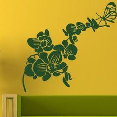 """Style and Apply Butterfly Orchid Wall Decal Size: 24"""" H x 23"""" W, Color: Pink"""